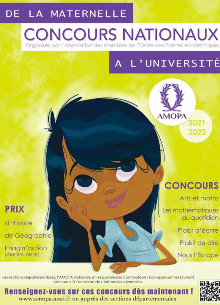 Concours nationaux de l'AMOPA. De la maternelle à l'université.